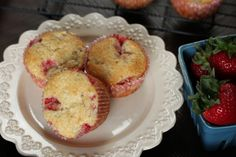 The Best Strawberry Rhubarb Muffins - Satisfy My Sweet Tooth