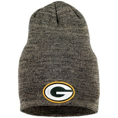 New Era Green Bay Packers Heathered Gray Slouch It Knit Beanie