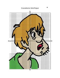 Scooby Doo Series Coordinate Graphing - Shaggy! Teaching Math, Maths, Graphing Worksheets, Math Art, Great Schools, Algebra, Shaggy, Scooby Doo, School Stuff