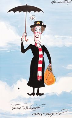 Gerald Scarfe ~ Julie Andrews as Mary Poppins