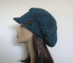Slouch Newsboy Hat Crochet Slouchy Newsboy by CreativeDesignsbyAmi,
