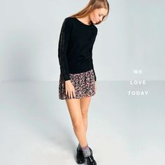 #okeysi #knit #sweater #floral #skirt Disponible en tiendas. Now in stores.