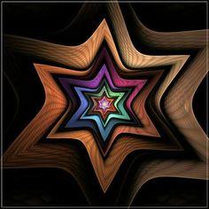 Starlight_by_SingingBlackbird 52 Amazing Fractal Art Images With Rich Colors Fractal Design, Fractal Art, Arte Judaica, Jewish Art, Star Of David, Illustrations, Sacred Geometry, Art Images, Fractals