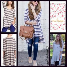 """Selling this """"Free People Striped Swing Tunic Tee"""" in my Poshmark closet! My username is: aprils2ndcloset. #shopmycloset #poshmark #fashion #shopping #style #forsale #Free People #Tops"""