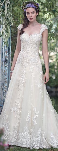 Bellethemagazine wedding dresses | Maggie Sottero Spring 2016 | Floor White A-Line Sweetheart $$ ($1,001-2,000)