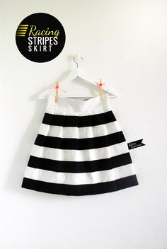 racing stripes skirt tutorial - i just want skirts to wear all summer Diy Clothing, Sewing Clothes, Clothing Patterns, Clothes Refashion, Ikea Fabric, Little Girl Skirts, Skirt Tutorial, Diy Tutorial, Racing Stripes