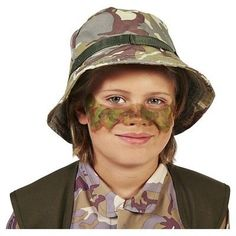 Army Delta Force with Hat Child's Costume M(8-10), Boy's, Multicolored