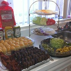 bbq party by TinyCarmen Hot Dog Bar ideas