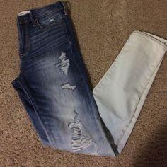 Abercrombie & Fitch ombré jeans size 4 / 27 Abercrombie & Fitch ombré jeans size 4 / 27 new with tags super skinny high rise Abercrombie & Fitch Jeans Skinny