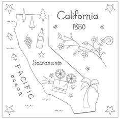California embroidery pattern.