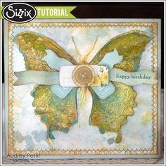 Sizzix Tutorial | Birthday Layered Butterfly By Audrey Pettit