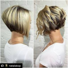 "102 Likes, 4 Comments - @bobbedhaircuts on Instagram: ""#Repost from @nataliakop Beautifull bob straight or curly just wow #longtoshorthaircut…"""