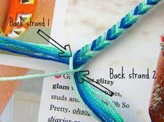 Feltasaurus: DIY Ombre Fishtail Friendship Bracelet Tutorial - Bracelets Tutorials - Fashion Show Diy Bracelets Easy, Bracelet Crafts, Handmade Bracelets, Jewelry Crafts, Gold Bracelets, String Bracelets, Braclets Diy, Macrame Bracelets, Kids Bracelets