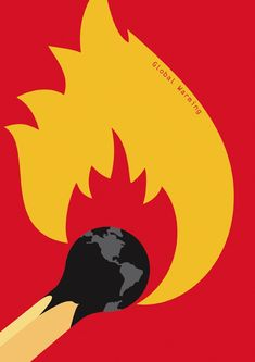 ANITA WASIK, Global warming This ad shows the earth as the tip of a matchstick, burning. This uses ethos to show us that the earth is getting hot, but also that we are using the earth like a…More Illustration Design Graphique, Art Graphique, Illustration Art, Global Warming Poster, Art Environnemental, Visual Metaphor, Plakat Design, Kunst Poster, Arte Popular