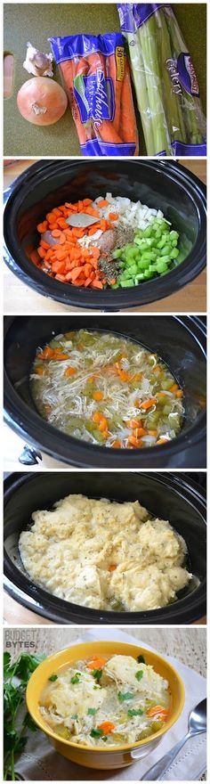 Slow Cooker Chicken & Dumplings ~ Per suggestions in the comments, I used chicken stock. Turned out great!