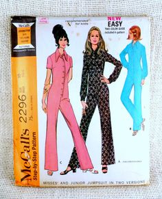 Vintage McCall's 2296 pattern Jumpsuit by momandpopcultureshop