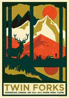 TWIN FORKS POSTER - Telegramme