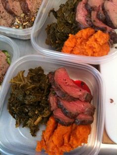 Beef tenderloin, greens and sweet potatoes | Anthony Leberto Catering