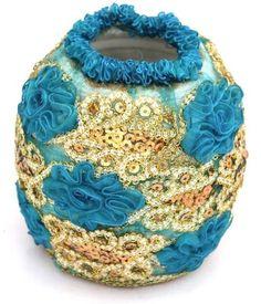 Blue Flower Vase Dimension : 12cm x 12cm http://kalajagat.com/crafts Rs/- 500