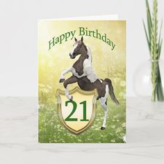Shop Daughter birthday card with a rearing horse created by Eggznbeenz. 100th Birthday Card, Daughter Birthday Cards, Happy 21st Birthday, Birthday Greeting Cards, Custom Greeting Cards, Gender, Age, Group, Unisex