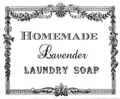Be Book Bound: Little House on the Prairie: Homemade Lavender Laundry Soap printable