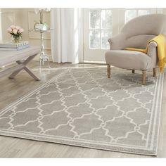 Safavieh Amherst Light Grey/Ivory Outdoor Area Rug & Reviews | Wayfair