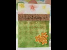 ▶ TCIF Stampin Up Just Because Embossing Paste Card - YouTube