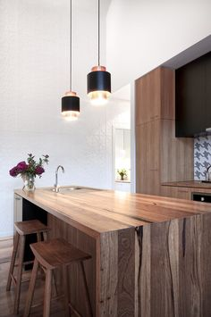 Recycled Timber Bench Tops - modern - Kitchen Benchtops - Other Metro - Nullarbor Sustainable Timber Recycled Timber Furniture, Sustainable Furniture, Sustainable Living, Timber Benchtop, Timber Flooring, Timber Kitchen, Wooden Kitchen, Dark Wooden Floor, Kitchen Benchtops