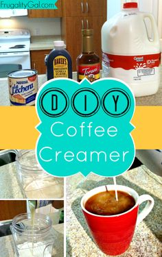 Most Clicked Link: Homemade Caramel Coffee Creamer by Frugality Gal on at Brag About It ~ Link Party Coffee Creamer Bottles, Vanilla Coffee Creamer, Homemade Coffee Creamer, Comida Diy, Coffee Drinks, Coffee Coffee, Black Coffee, Coffee Time, Tea Drinks
