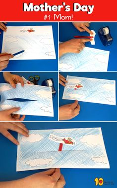 Mother's Day Airplane Banner Paper Craft