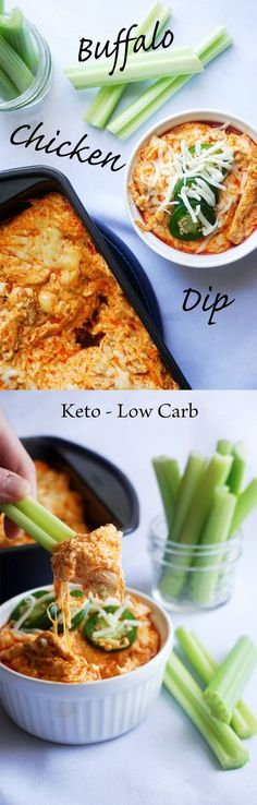 Easy Buffalo Chicken Dip - A Simple Keto snap! Tasty, healthy, and nutritious Keto, Low Carb Goodness! Ketogenic Recipes, Low Carb Recipes, Diet Recipes, Ketogenic Diet, Paleo Diet, Recipies, Recipes Dinner, Easy Keto Recipes, Appetizer Recipes