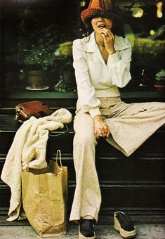 """September 1973. """"Vivian Wang believes in dressing for comfort and looking good with little fuss."""""""
