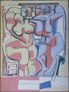'Deux femmes debout à la chaise' (1936) by Le Corbusier