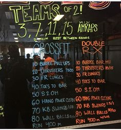 Partner WOD teams of 2 #crossfit