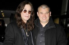 LOVE this pic!!!!  Mr Osbourne with oldest son Louis.