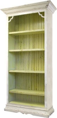 Brandi Bookcase ~ love the pop of color on the inside!