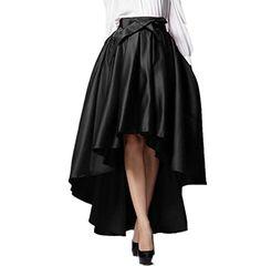 PERSUN Womens Elegant Bird And Floral Print Hi-lo Skater Skirt at Amazon Women's Clothing store: