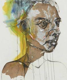 Ephia Mmbidi works   Candice Berman Gallery Camilla, Gallery, Artist, Portraits, Painting, Street, Head Shots, Painting Art, Roads