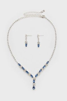 Crystal Elianna Necklace in Soft Sapphire