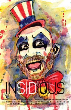 SID HAIG Insidious 11x17 Art Print by Artist Metal Hand Horror Devil's Rejects