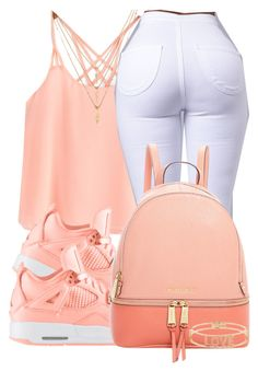 """""""."""" by jaziscomplex ❤ liked on Polyvore featuring Forever 21, MICHAEL Michael Kors and Spallanzani"""