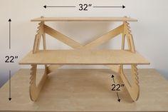 Readydesk: Ultra-affordable, Dual-Adjustable Standing Desk by Ben Larson & Joe Nafziger — Kickstarter #needtobuild