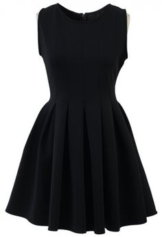 simple, pleated, black.