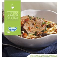 Pollo de ganso con verduras / #Food #Foodporn #RecetarioExpress #ExpressdeLider #PollodeGanso #Verduras