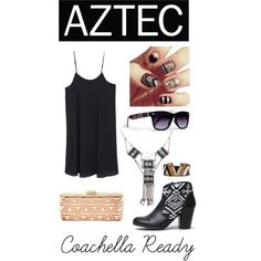 Aztec Party:) by zooshoo on Polyvore featuring Qupid, BCBGMAXAZRIA, Accessorize and ZooShoo