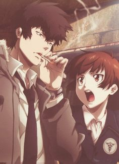 Browse PSYCHO-PASS collected by Aleksandra Mikić and make your own Anime album. Psycho Pass, Manga Anime, Anime Art, Awesome Anime, Anime Love, Anime Guys, Anime Couples, Cute Couples, Kogami Shinya