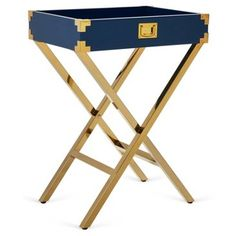 Check out this item at One Kings Lane! Hayward Tray Table, Navy
