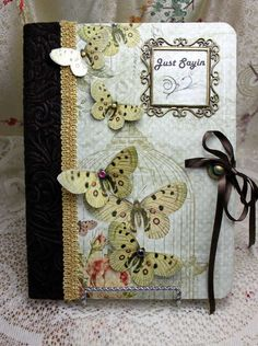 Lovely little altered journal idea! From Stormydog on scrapbook.com