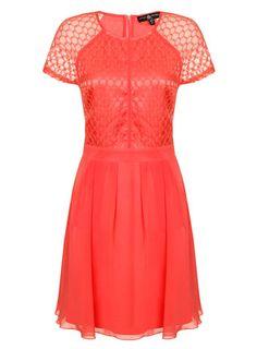 Little Mistress Watermelon Lace Skater Dress