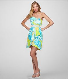 Lilly Pulitzer dress.... Okay call me crazy, but Lilly P. would look flipping cute as bridesmaids dresses for an outdoor spring wedding... Just a thought.